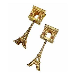 BALENCIAGA Paris Arch + Tower Earrings NWT